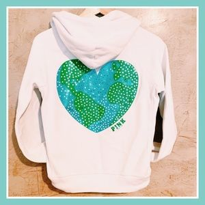 VS Pink Vintage Heart Earth Day Recycle Hoodie